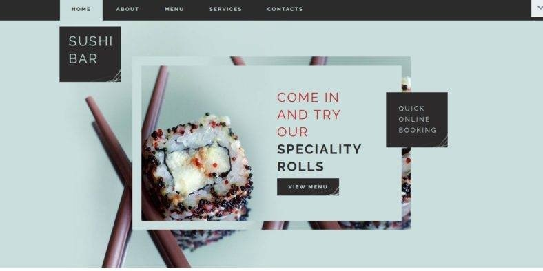 Sushi-Bar - 41+ Stunning Restaurant Website HTML5 Templates [year]