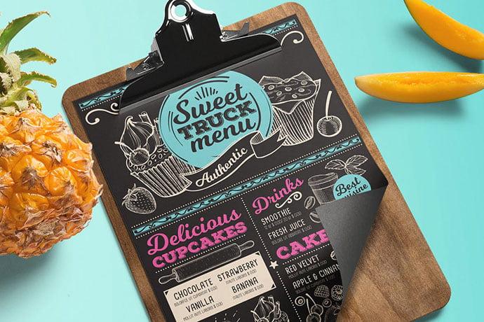 Sweet-Truck-Menu - 35+ NICE Cake and Bakery Menu Design [year]
