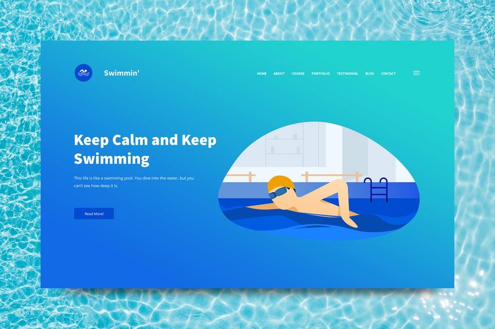 Swimming-1 - 31+ Amazing Hero Image PSD Illustration Templates [year]
