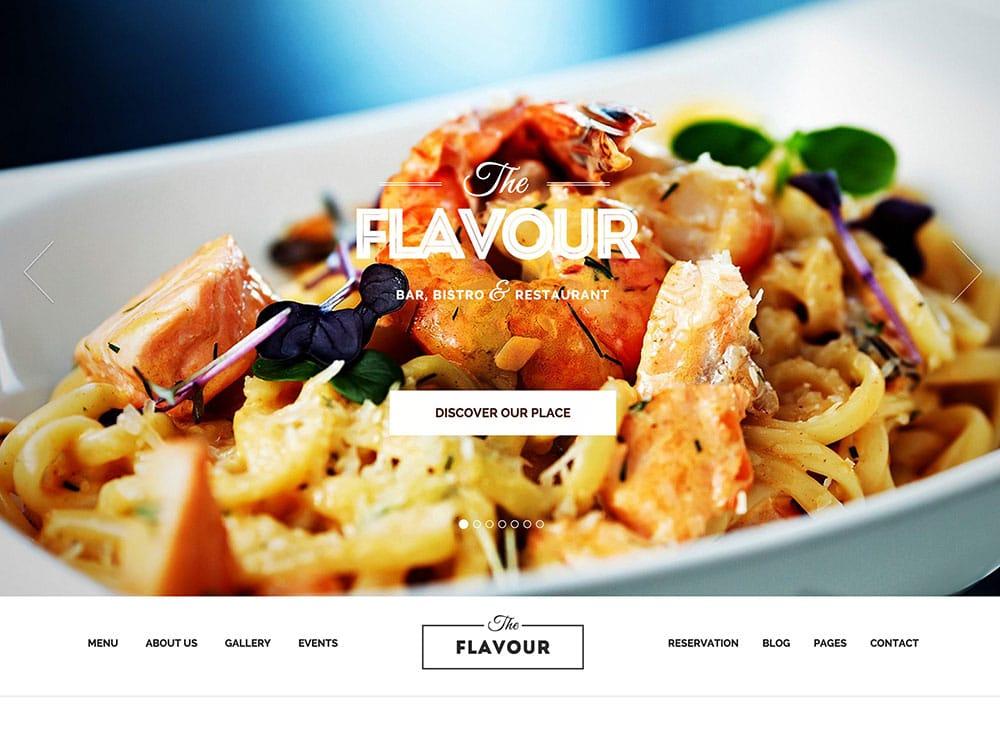 THE-FLAVOUR - 51+ Best Restaurant WordPress Themes [year]