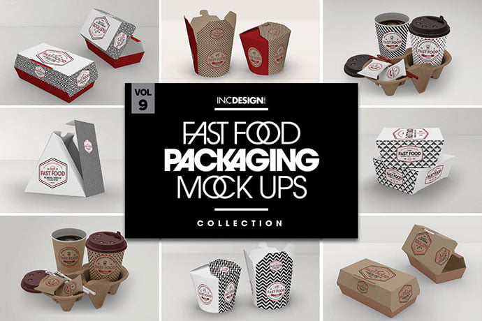 Take-Out - 60+ Delicious Food Packaging PSD Mockup Design Templates [year]