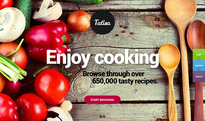 Talisa - 36+ Delicious Cooking Idea Share WordPress Themes [year]