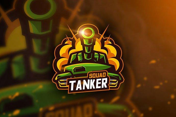 Tanker-Squad - 60+ Personal & Team Branding AI & EPS eSports Logo Templates [year]