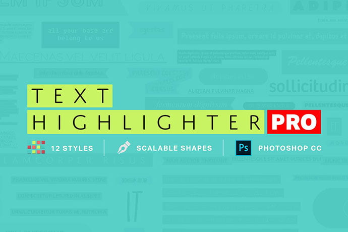 Text-Highlighter-Pro - 35+ Awesome Poster Design For Photoshop Actions [year]