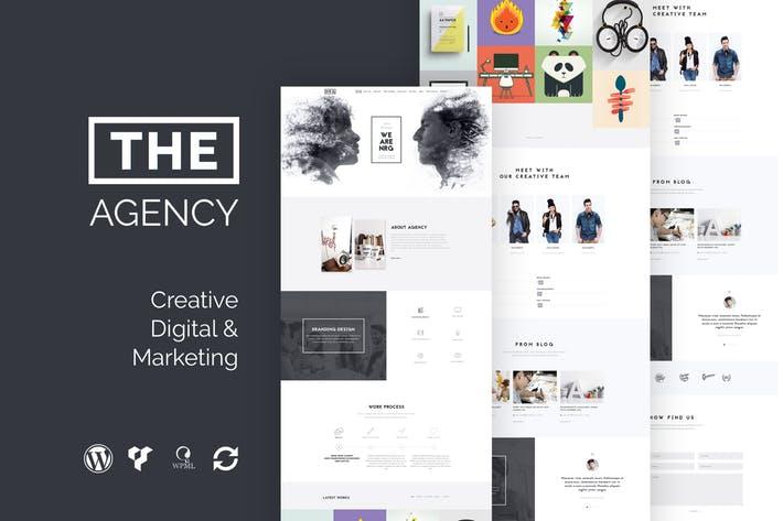 The-Agency - 50+ Best Portfolio WordPress Theme Design [year]