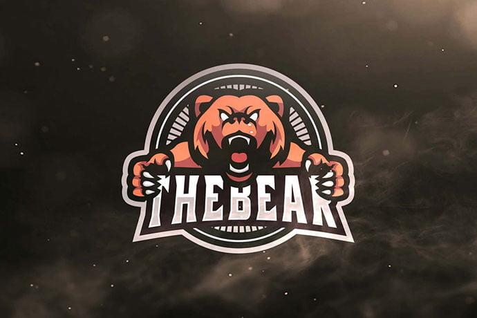The-Bear-Sport - 60+ Personal & Team Branding AI & EPS eSports Logo Templates [year]