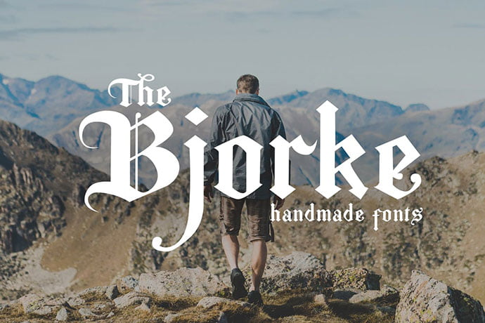 The-Bjorke - 30+ Marvelous Gothic Blackletter Fonts [year]