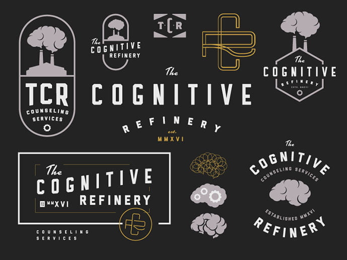 The-Cognitive-Refinery-by-Bud-Thomas - 50+ Fantastic BEST FREE Typographic Logo Badge Designs