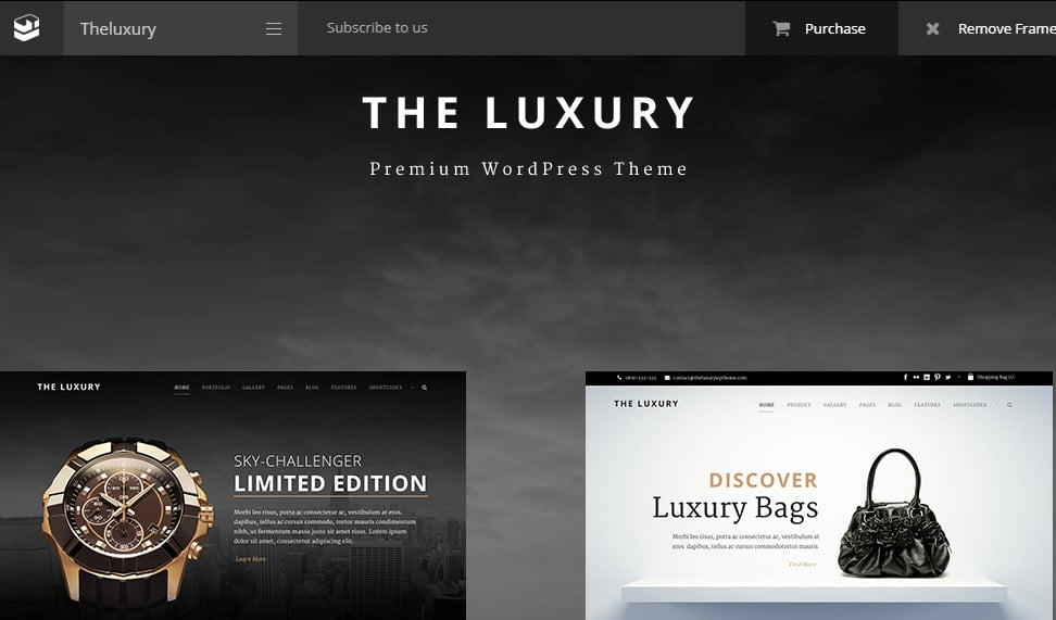 The-Luxury - 25+ Awesome WordPress Themes For Feminine [year]