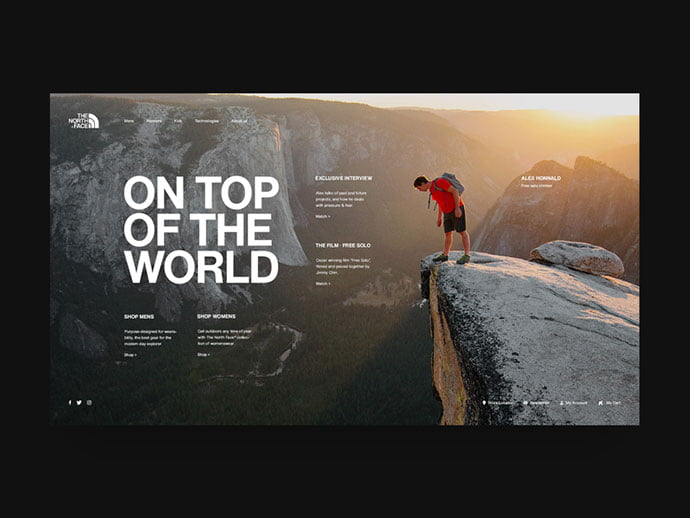 The-North-Face - 46+ Free Inspiration of Travel Web UI Designs [year]