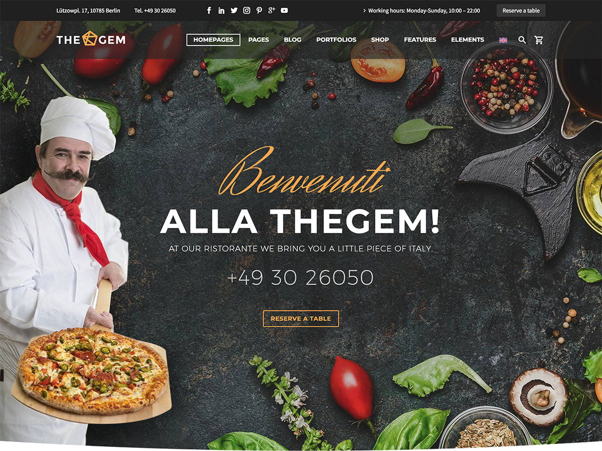 TheGem - 51+ Best Restaurant WordPress Themes [year]