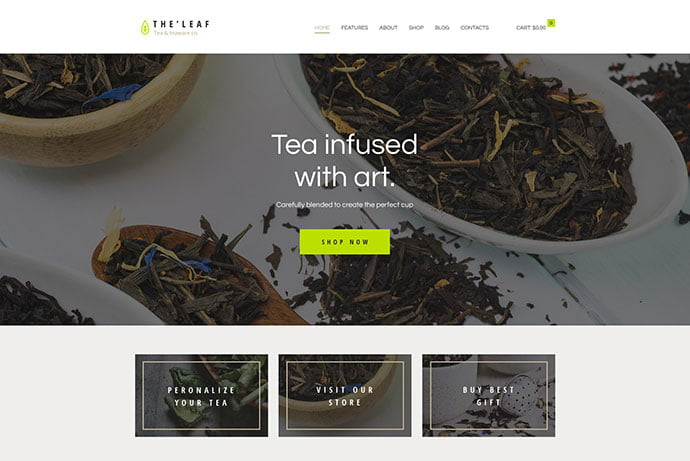 TheLeaf - 30+ Excellent E-commerce WordPress Themes For Food & Drink [year]
