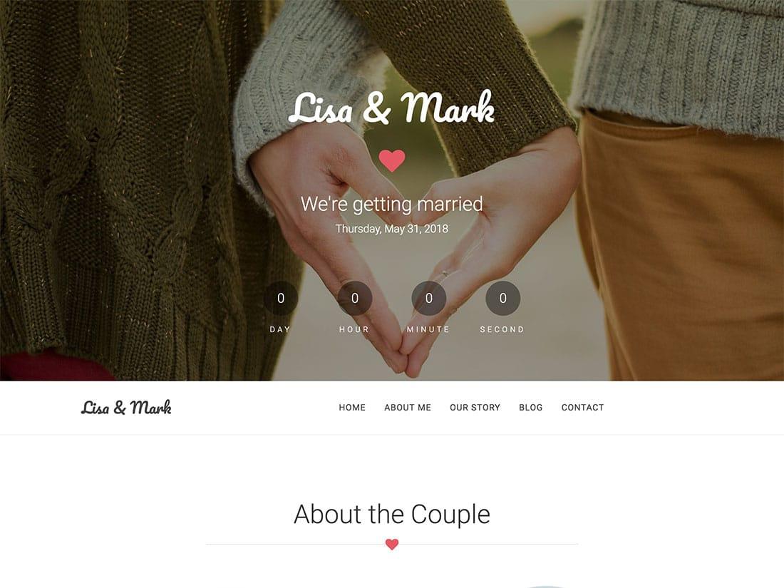 Together - 18+ Best Free Wedding WordPress Themes