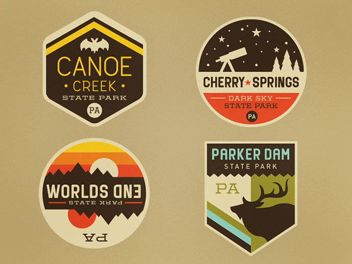 Too-many-patches-by-Caleb-Heisey - 50+ Fantastic BEST FREE Typographic Logo Badge Designs
