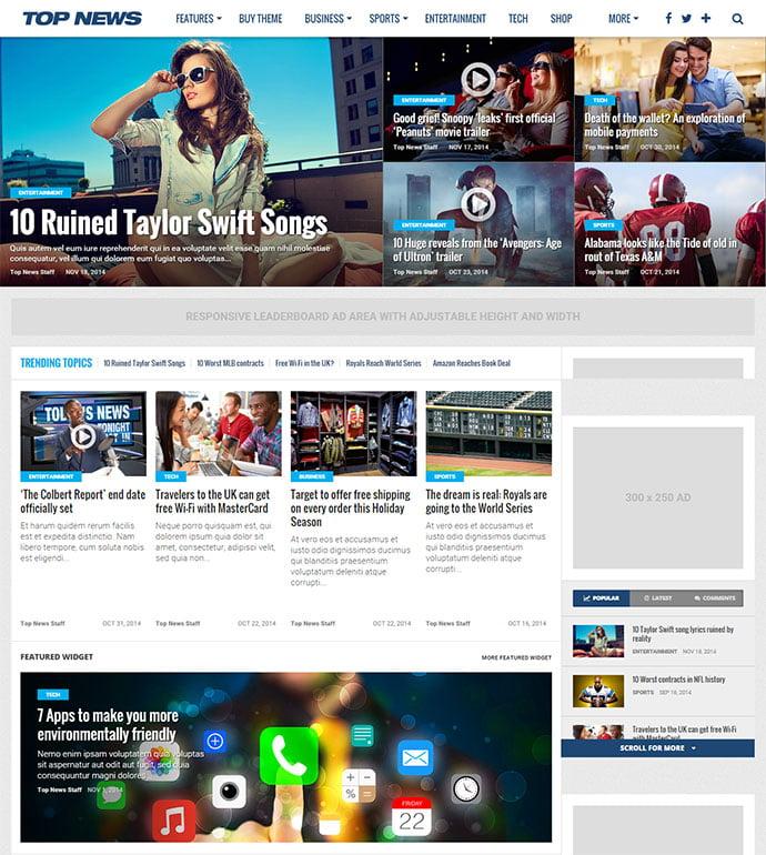 Top-News - 45+ Magazine & Blog WordPress Themes To Make Your Website [year]