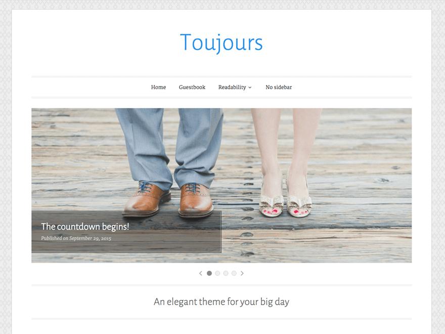Toujours - 18+ Best Free Wedding WordPress Themes