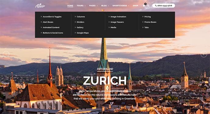 Tour-Travel-Agency - 30+ Awesome Mega Menu Navigation WordPress Theme [year]
