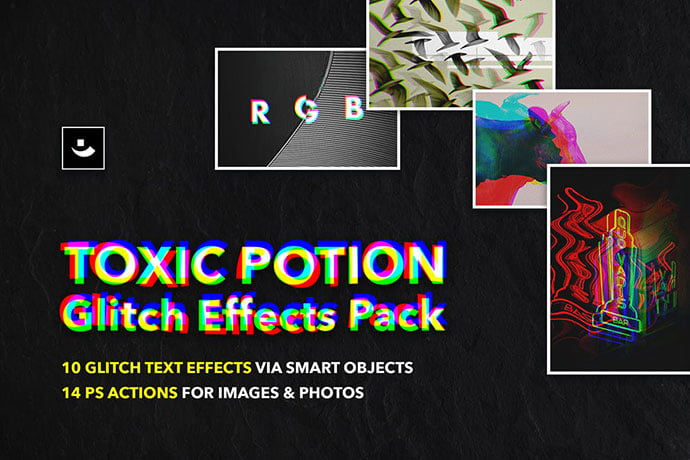 Toxic-Potion-Glitch - 35+ Awesome Poster Design For Photoshop Actions [year]