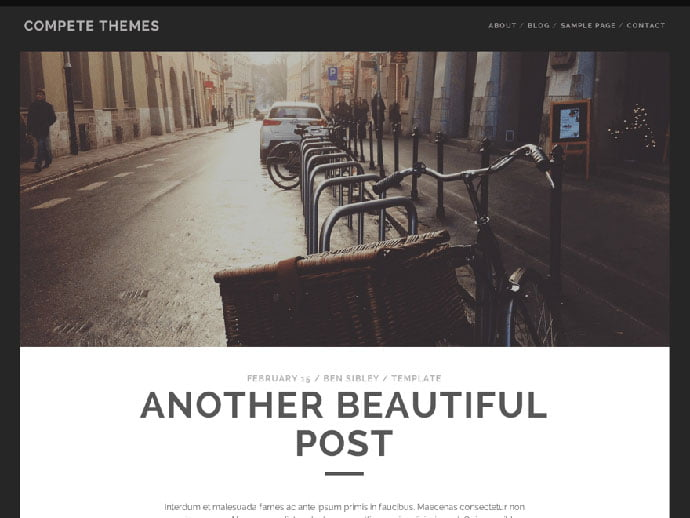 Tracks - 61+ Free Creating Responsive WordPress Themes [year]