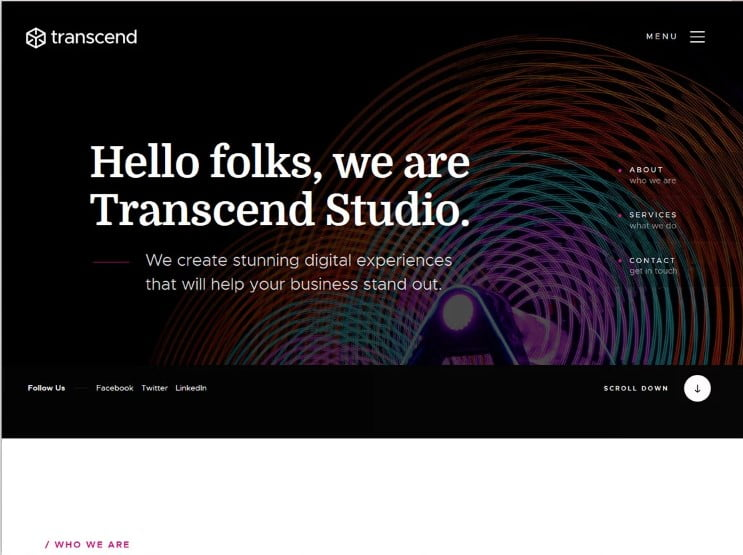Transcend - 77+ Best Free HTML & CSS Clean Simple Website Templates [year]