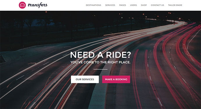 Transfers - 36+ Top WordPress Vehicle & Transportation Themes [year]
