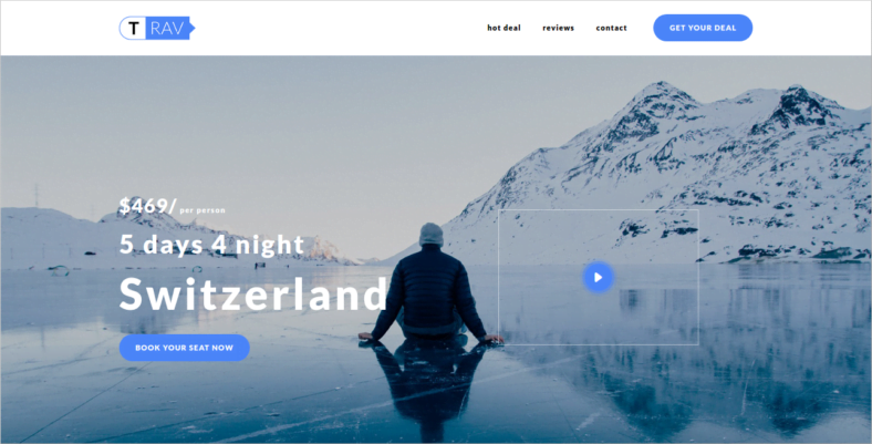 Trav - 41+ Awesome Parallax Landing Page Themes [year]