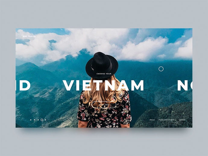 Travel-Agency-Concept - 46+ Free Inspiration of Travel Web UI Designs [year]