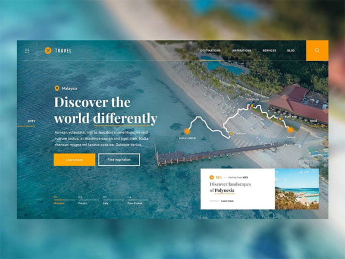 Travel-Guide - 46+ Free Inspiration of Travel Web UI Designs [year]