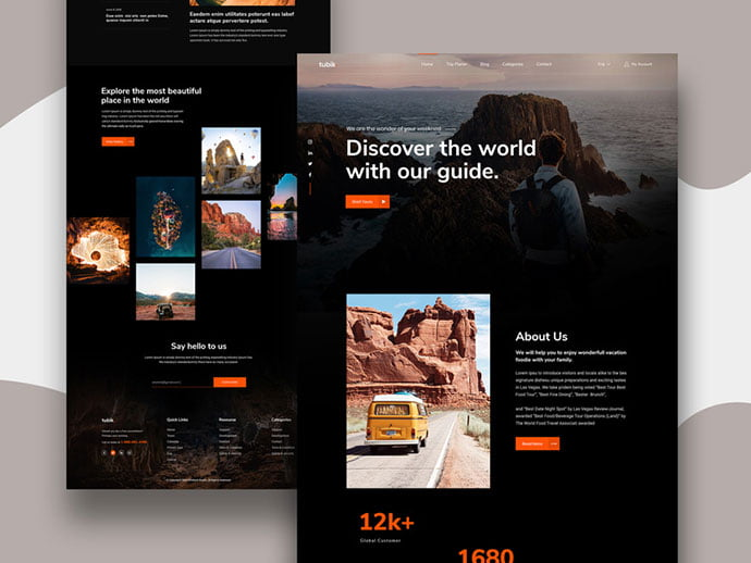 Travel-Landing - 46+ Free Inspiration of Travel Web UI Designs [year]