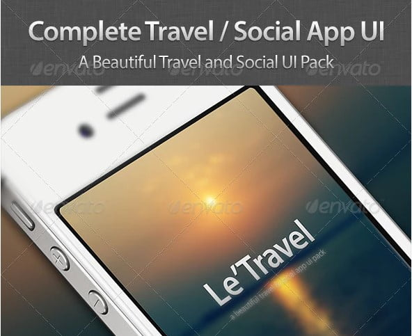 Travel-Social-App-UI-Pack - 46+ Free Inspiration of Travel Web UI Designs [year]