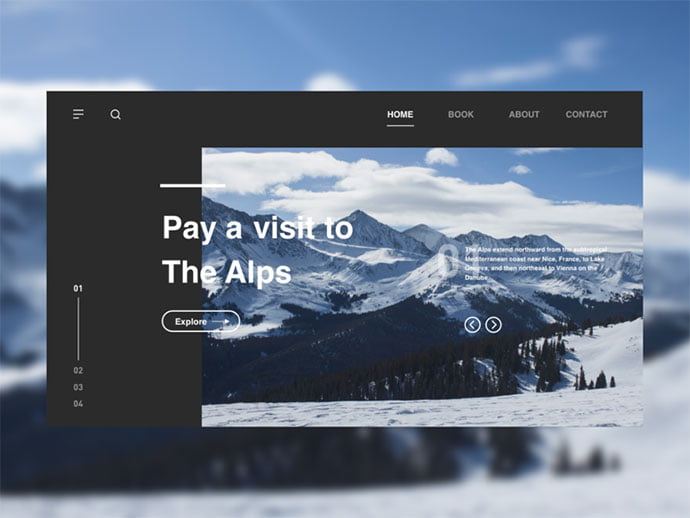 Travel - 46+ Free Inspiration of Travel Web UI Designs [year]