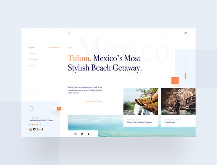 Tulum-Travel-Guide-1 - 46+ Free Inspiration of Travel Web UI Designs [year]