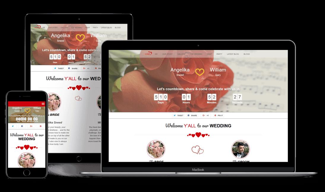TwoGether - 18+ Best Free Wedding WordPress Themes