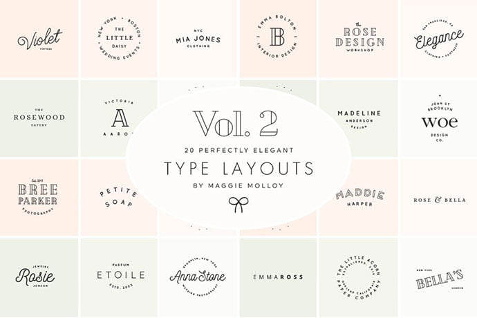 Type-Layouts-Vol.-2 - 31+ Awesome Watermark Photographer Logo Templates [year]