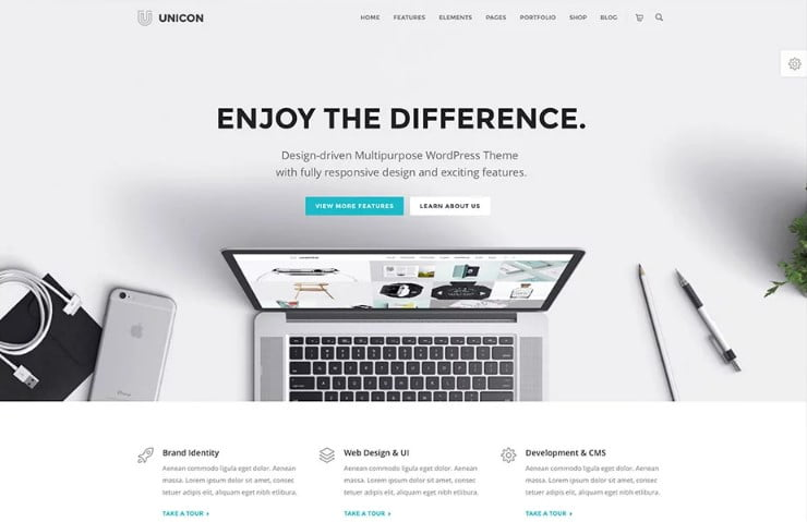 Unicon - 31+ Amazing WordPress Themes for Programmers [year]