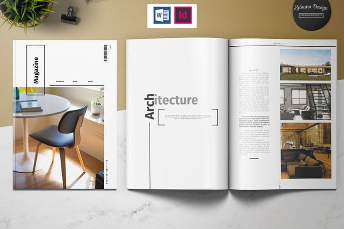 Universal-1 - 50+ Awesome Interior Magazine InDesign Templates [year]