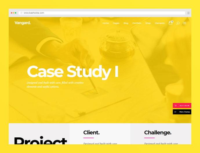 Vangard-1 - 35+ Compelling Case Study WordPress Themes [year]