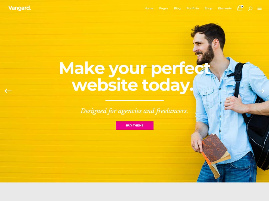 Vangard - 31+ Best Freelancers WordPress Themes [year]