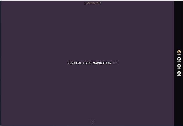 Vertical-Fixed-Navigation - 31+ Important Javascript Navigation Menu Libraries [year]