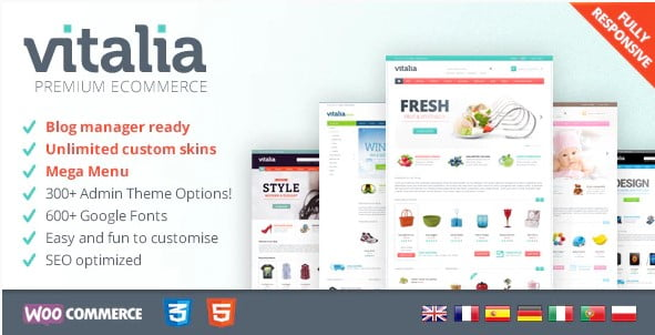 Vitalia - 31+ Multicolor WordPress eCommerce Themes [year]