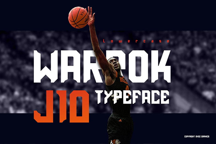Warrok-Display-Font - 30+ Awesome BEST Square based Geometric Fonts [year]