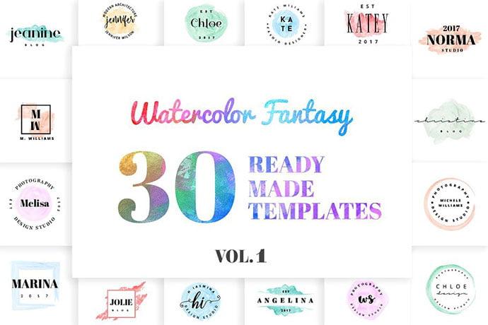 Watercolor-Fantasy - 35+ Lovely Watercolor Logo Designs [year]