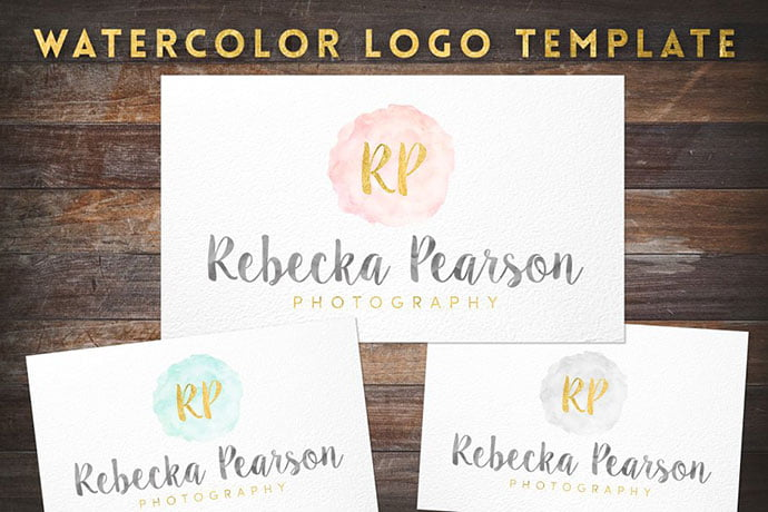 Watercolor-Gold-Foil - 35+ Lovely Watercolor Logo Designs [year]