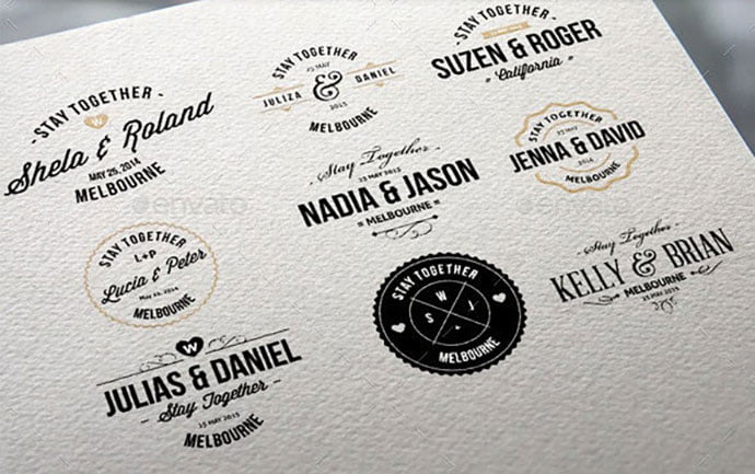 Wedding-Badge - 31+ Awesome Watermark Photographer Logo Templates [year]