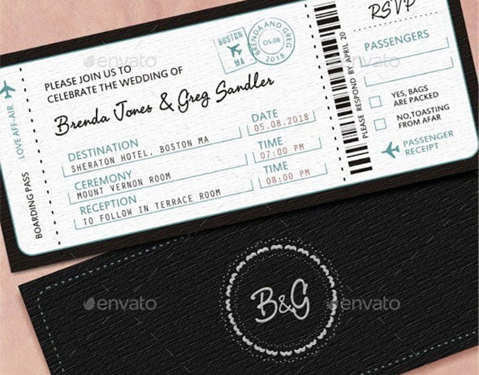 Wedding-Invitation-1 - 30+ Awesome Wedding Invitation Ticket Templates