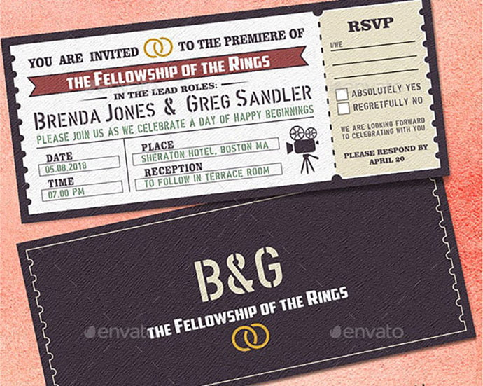 Wedding-Invitation-2 - 30+ Awesome Wedding Invitation Ticket Templates