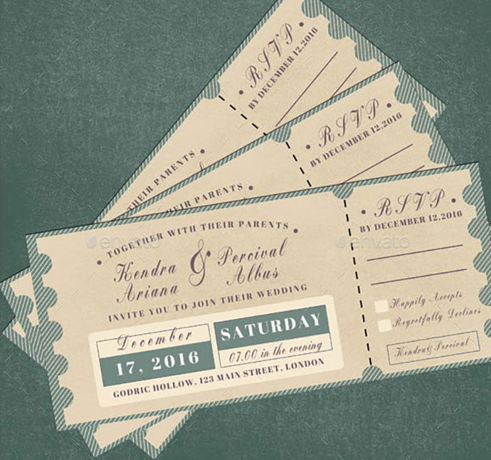 Wedding-Invitation-RSVP-Ticket - 30+ Awesome Wedding Invitation Ticket Templates [year]