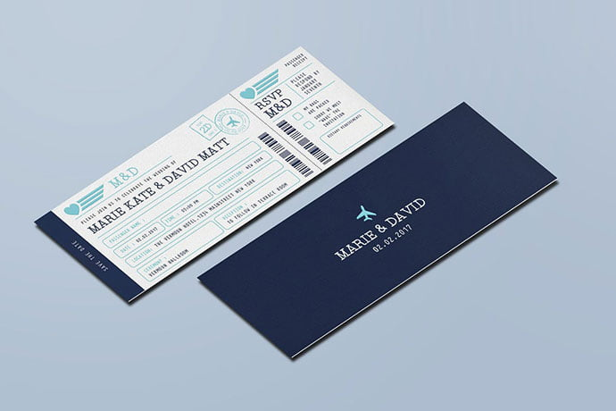Wedding-Invitation-Ticket-1 - 30+ Awesome Wedding Invitation Ticket Templates [year]