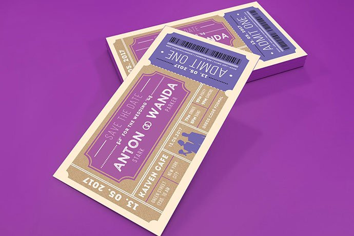 Wedding-Invitation-Ticket - 30+ Awesome Wedding Invitation Ticket Templates [year]