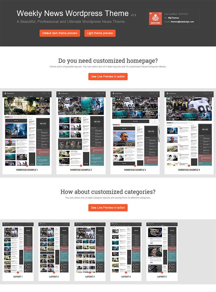 Weekly-News - 45+ Magazine & Blog WordPress Themes To Make Your Website [year]
